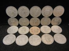 (20) Great Britain 1 Shilling 1950's Mixed Dates