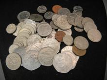 (72) Barbados Coins Mixed Values and Dates