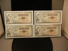 (4) Yugoslavia 1000 Dinar Notes