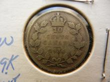 1934 Canadian 10 Cents 80% Silver