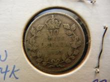 1935 Canadian 10 Cents 80% Silver
