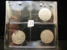 1914, (2) 1918, and 1920 Canadian 5 Cents Silver