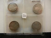 (2) 1918, 1920, and No Date Canadian 5 Cents Silver