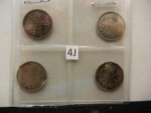 1913, 1917, 1918, and 1920 Canadian 5 Cents Silver