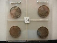 1912, 1914, 1917, and 1919 Canadian 5 Cents 92.5% Silver