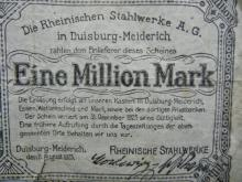 1923 German 1,000,000 Mark Inflation Note