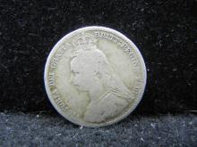 1890 Six Pence - .925 Silver Coin