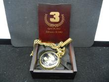 Dale Earnhardt Sr. Memorial Pocket Watch - New - Displace Case & Chain - Works Great!
