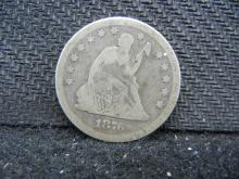 1876 Seated Liberty Quarter