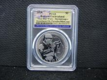2018 Niue Star Wars Stormtrooper 1 oz. .999 Fine Silver Coin - Brilliant Uncirculated by PCGS