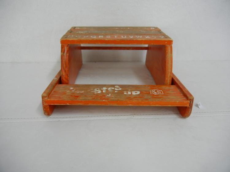 Vintage Wood Child 39 S Step Stool
