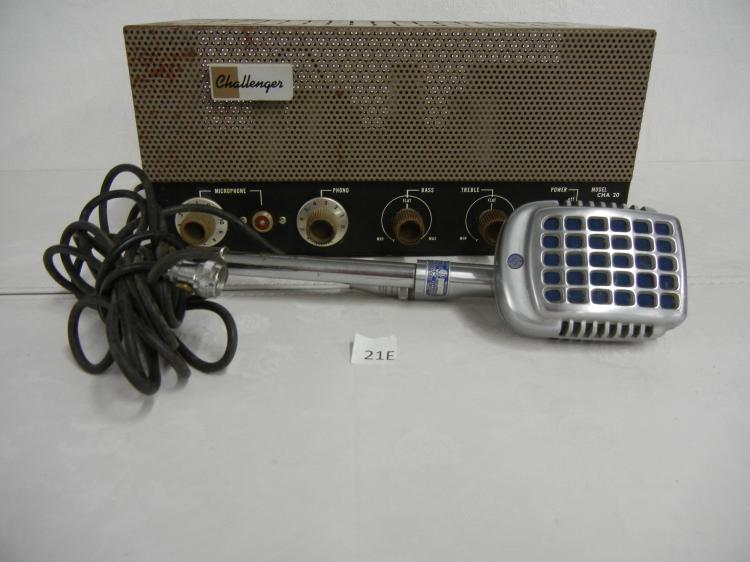 Vintage Pa System With Microphone