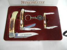 Winchester 2003 Limited Edition 3 Piece Folding Blade Knife Set with Keyring