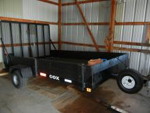 6x10 Cox Utility Trailer  W/ Rear Loading Ramp ,Undercoated