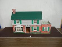 Vintage Metal Marx Doll House with Misc. Vintage Doll Furniture