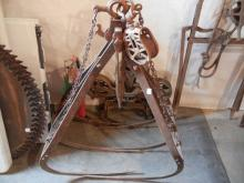 Large Vintage Iron Hay Claw with Pulley System   NO SHIPPING!!!