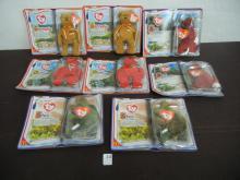 Lot of McDonalds TY International Bears (8)2-Rex, 2-Steg, 2-Osito, 2-Germania