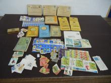 Lot of Vintage Stamps-TV Top Value, S & H Green Stamps, War Raton Books Two & Four , Misc. Stamps