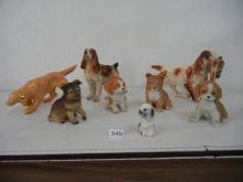 7 Dog Figurines