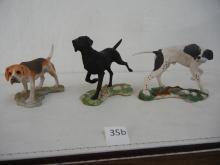 3 Dog Figurines A Dave Grossman Creation