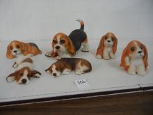 6 Dog Figurines