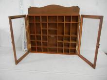 Small Knick Knack Shelf with Glass Doors