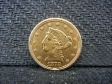 GOLD - 1878 Liberty Head $2.50 - 90% Gold Coin