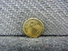 Mini Gold Enhanced St Gaudens Token