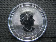 2016 Proof Like Canadian $5 Coin One Ounce .9999 Fine Silver