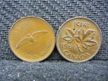 1966 & 1967 Canadian Pennies