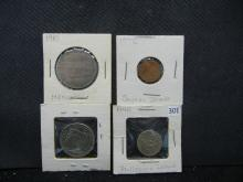 4 Foreign Coins