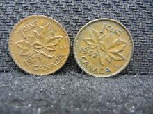 1962 & 1979 Canadian Pennies