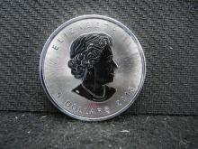 2015 Proof Like Canadian $5 Coin One Ounce .9999 Fine Silver