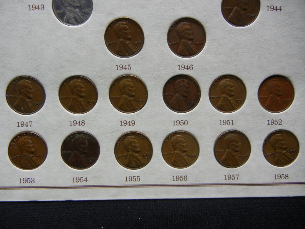 1934-1958 Lincoln Wheat-Ear Penny 20 Coin Set