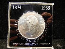 1965 Great Britain.  Sir Winston Churchill Crown.  Brilliant Uncirculated.