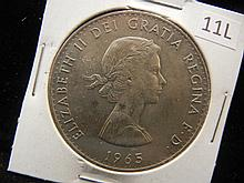 1965 1 Crown Commemorating Sir Winston Churchill