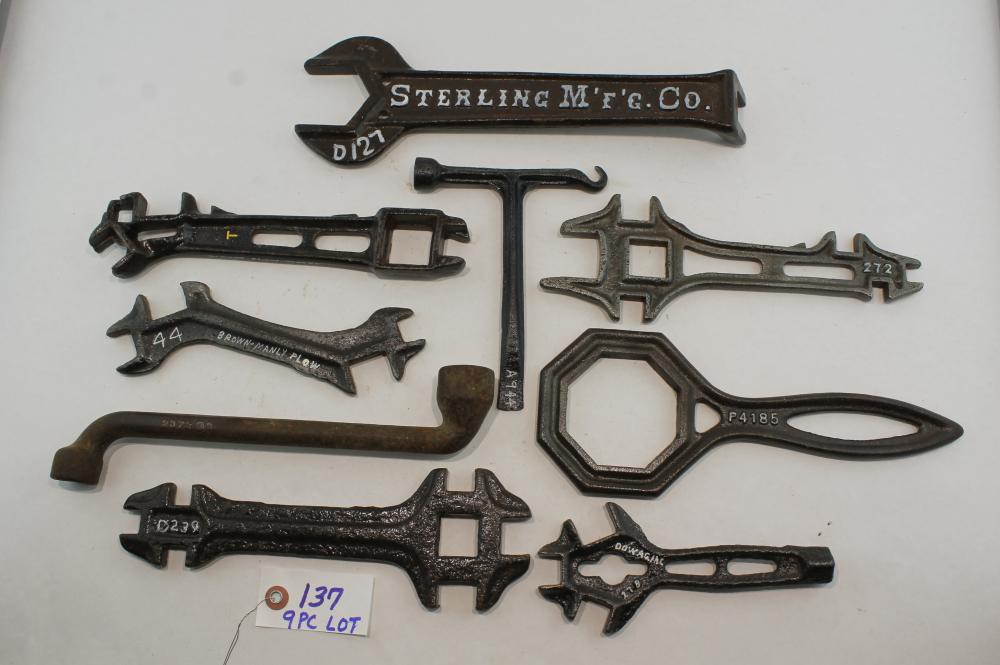 9 pc Lot Farm Wrenches