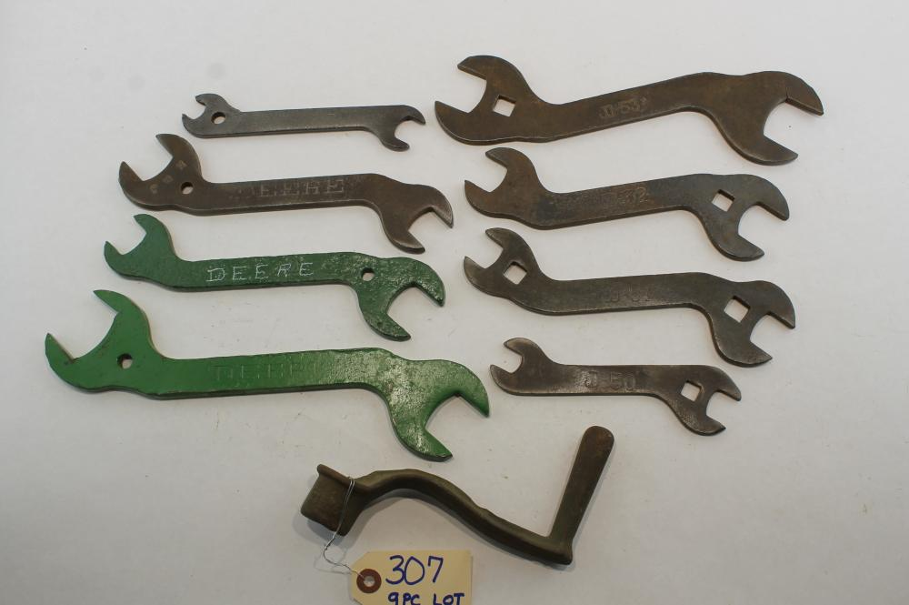9 pc Lot Deere Check Row Planter, Deere, D - 50's Wrenches