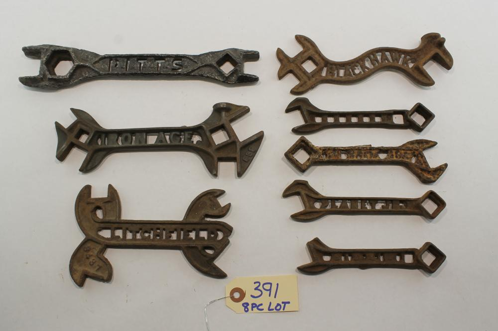 8 pc Lot Collection of Cut-Out Wrenches
