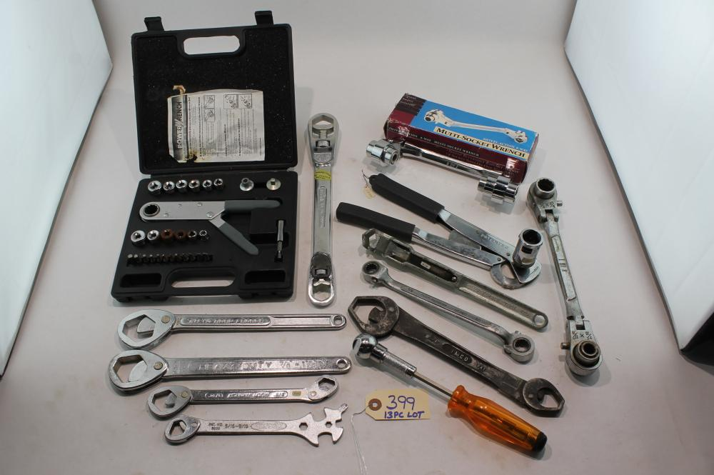 13 Pc Lot Collection of Unusual Wrenches