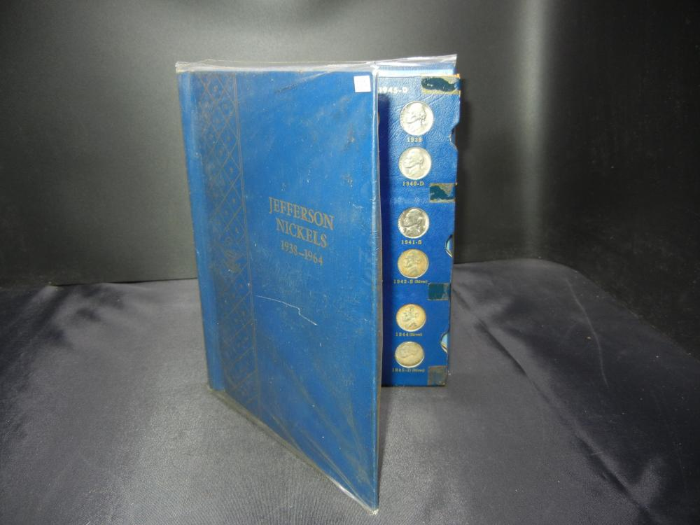 Lot 10N 1938 1964 D Jefferson Nickels Book