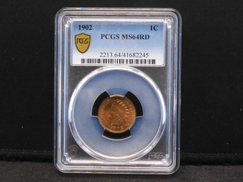 1902 Indian Head Cent PCGS MS64 RED Gorgeous COLOR!!!