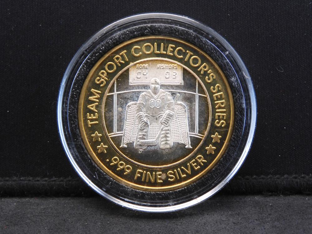 Casino Token - .999 Fine Silver Center - Team Sport Collectors Series - Flamingo Kansas City, MO - Hockey