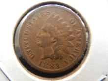 1883 Indian Head Cent.  Very Fine.