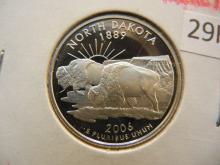 2006 S North Dakota State Quarter 90% Silver Proof