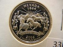 2006 S Nevada State Quarter 90% Silver Proof