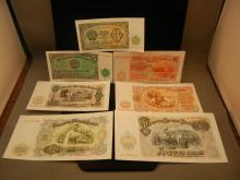 Seven Foreign Notes Mostly 1951 and 1944