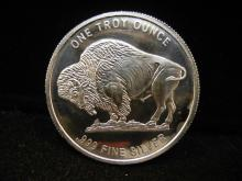 .999 Fine Silver One Troy Ounce Indian Head Buffalo Round