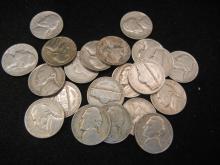 (21) Jefferson Nickel's (1940s-50s), Nice Grade's