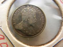 1905 Canada 5C Silver, Edward VII, 112 Years Old, Hard To Find!